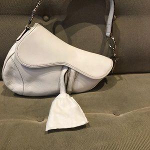 Dior Bags - Dior White Saddle Bag